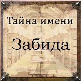 Тайна имени Забида